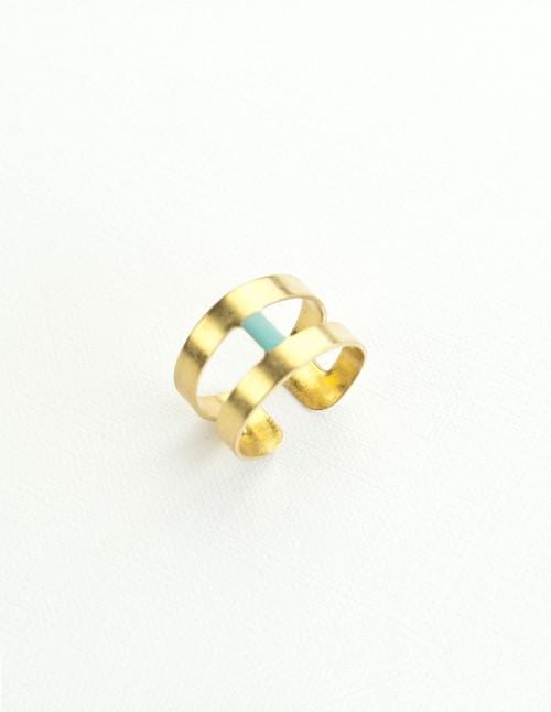 mementomori,bijoux,bague,barre,laiton,geometrique