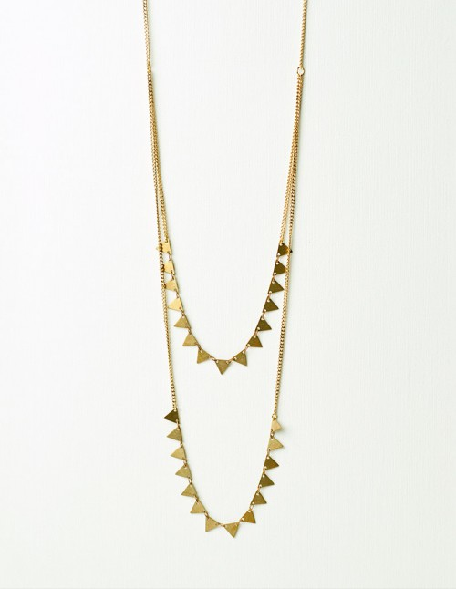 sautoir,triangle,laiton,dore,bijoux,bijou,mementomori,createur,collier
