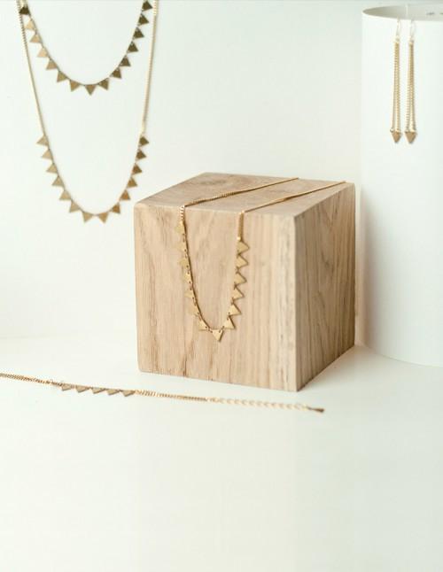mementomori,bijoux,bijou,createur,fantaisie,triangle,laiton,dore,noel