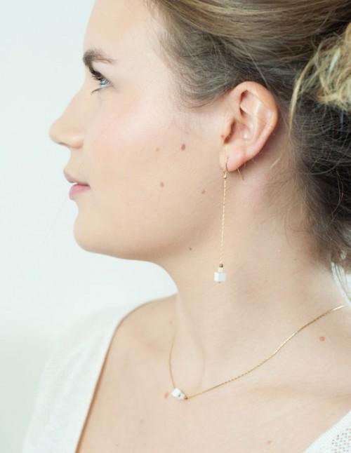 mementomeri,bijoux,createur,boucles,oreilles,chopin,laiton,perle,mariage,ceremonie