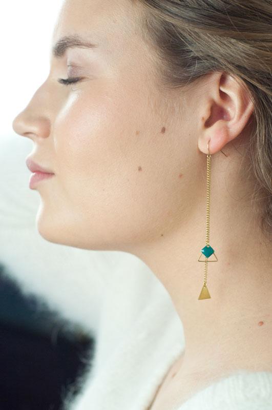 mementomori,bijoux,bijou,createur,fantaisie,boucles,doreilles,triangle,or,mikado