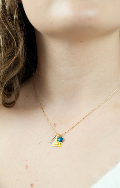 mementomori,bijoux,bijou,createur,fantaisie,collier,triangle,mikado,or,argent