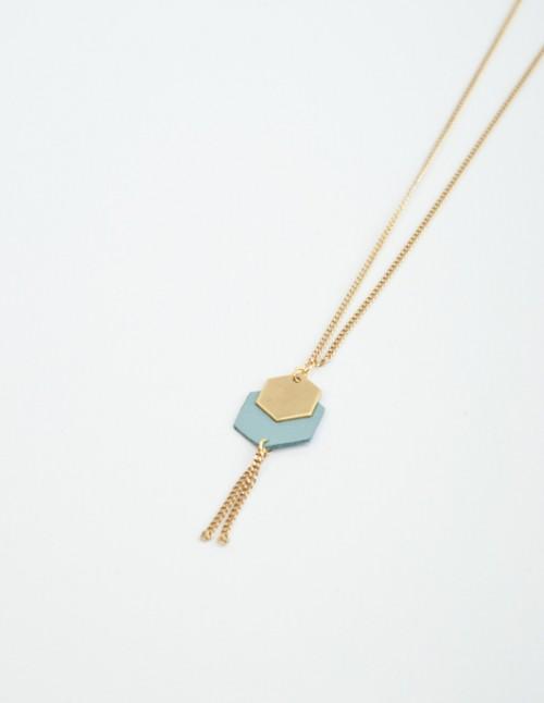 mementomori,bijoux,sautoir,chorus,or,laiton,createur,mariage,femme,geometrique
