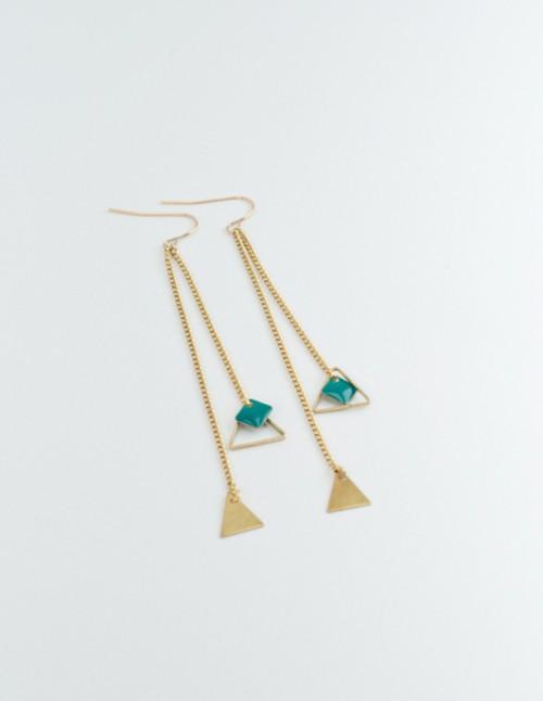 mementomori,bijoux,bijou,createur,fantaisie,boucles,oreilles,laiton,or,triangle